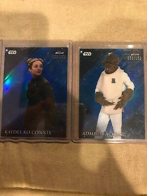 STAR WARS Topps Finest Kaydel Ko Connix Ackbar Blue Refractor Lot /150