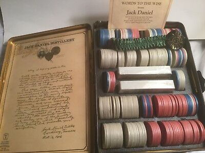 Jack Daniels Poker Tin Complete With Cards And Chips And Paperwork