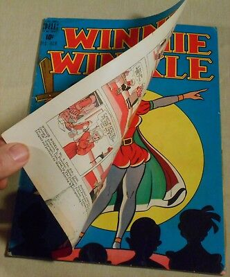 Winnie Winkle #4 double-cover 1949 Dell create-a-lot & save