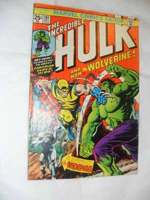 THE INCREDIBLE HULK #181 1st Full Appearance Of Wolverine Mid Grade Missing MVS