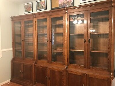 Large Antique Oak Bookcase, Beautiful, Great Condition Lousy Photos, See Why...