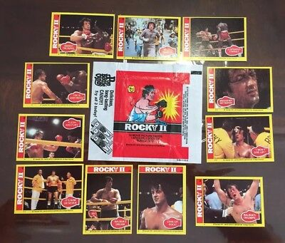 1979 Topps Rocky II  lot of 11 NM-MT cards & wrapper*No tears