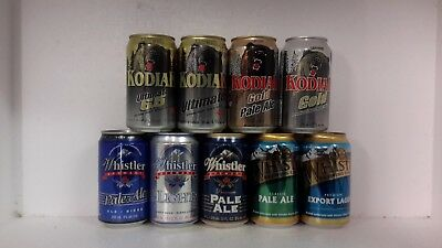 Craft Beer Cans from Kodiak & Whistler Brewing in Canada
