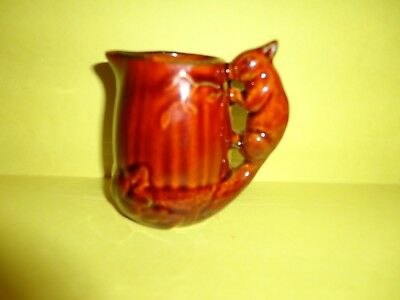 Sylvac Squirrel Pitcher Brown Glaze Dated 1993 England Excellent Condition