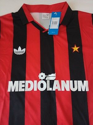 AC MILAN ITALY RETRO REPLICA 1990/1992 FOOTBALL SHIRT (only small and medium)
