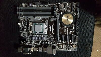 Asus H97M-E Motherboard 1150 With I5-4590 Cpu Working Order  ,no I/o