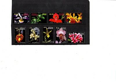 A  Unmounted Mint Set From Antigua & Barbuda Orchids