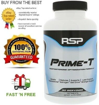 Rsp Nutrition Prime-T Natural Proven Testosterone Booster + Free Shipping