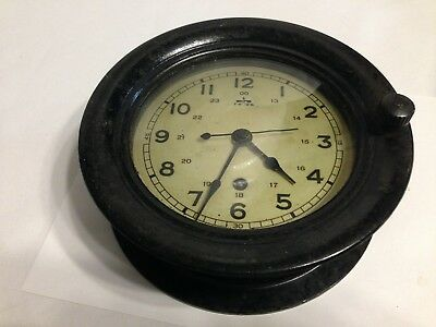 Vintage 1/1944  6 Inch Face Ships Clock Working Made in USA Generic Key included