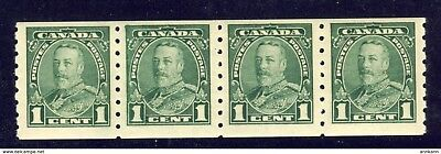 4x Canada stamps # 228iii Narrow 1 in Jump strip of 4 w 3 normal MNH F/VF $180.