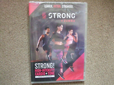 STRONG BY ZUMBA - high intensity cardio + tone - brand new and sealed DVD