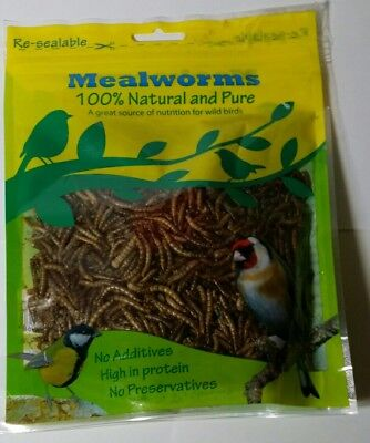 Dried Mealworms, Top Quality Wild Bird Dried Mealworm food, Re-sealable 80g