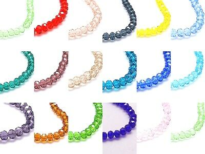 Faceted Rondelle Abacus Crystal Glass Beads Strand 6x4mm BUY 4 GET 1 FREE