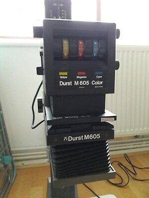 Durst M605 Colour / B&W Enlarger + Transformer and Timer.  Minolta Rokkor lens.