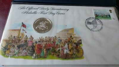 200 Years Of The Derby 925 Stirling Silver Medal FDC in Proof Condition