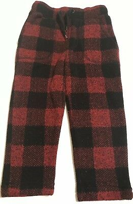 Baby Gap Boys Red Plaid Pants Size 2T 2 Years