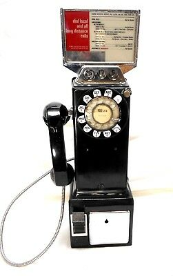 Vtg  Los Angeles Area Bell-Western Electric 3 Coin Pay Telephone Rotary Dial
