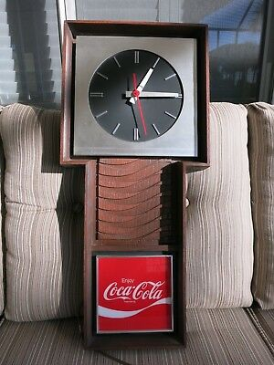 Vintage Early 1970s Coca-Cola Electric Clock - Keeps Perfect Time