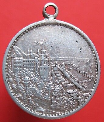 Old Germany - Schlesien - Silver love token - town - initials - more on ebay.pl