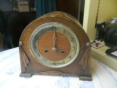 Vintage MAUTHE quality wooden cased mantle clock