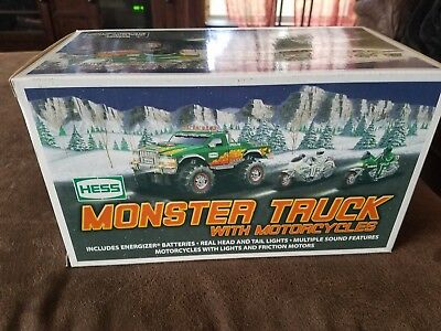 2007 Toy Hess Monster Truck W/ Motorcycles New!!