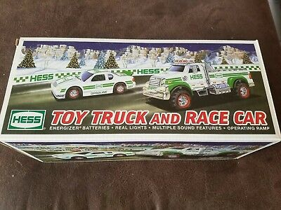 2011 Hess Toy Truck and Race Car- NIB