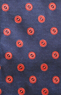 60ac731df432 Thomas Pink Woven Silk Tie Navy Blue Red & Pink Circles A Wedding Stunner  Nmcond