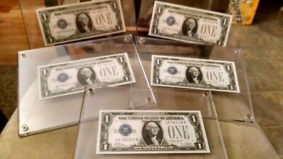 5- Consecutive 1928 Funny-Back Notes  Ch/gem Unc  Guaranteed