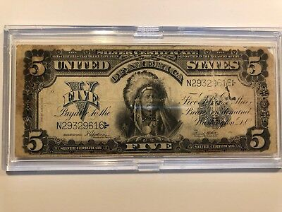 1899 $5 Silver Certificate FR281 CHIEF NOTE