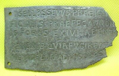 Ancient Roman Bronze Tag With Translated Inscription - 100/200 Ad
