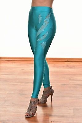Leggings Ocean color cut out lace designer shiny wetlook Fashion sexy leggings