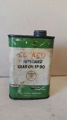 Vintage Texaco Outboard Motor Oil Can One Quart