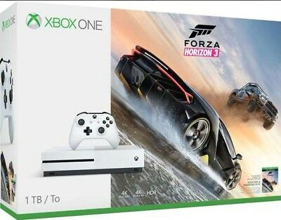 Microsoft Xbox One S Forza Horizon 3 Bundle 1TB White Console | BRAND NEW SEALED