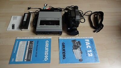 Grundig VS 120  VHS  Video Recorder + Fac 12 Super Color Camera