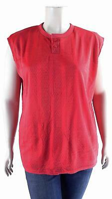 NWT Southern Athletic Blank Softball Jersey Red Sleeveless Baseball Top Sport