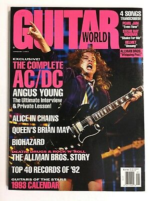 AC/DC 1 / 1993 Guitar World Magazine Angus Young - $3 99 | PicClick