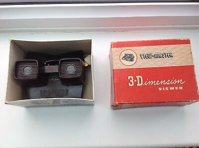 1no Vintage Boxed 3D Viewmaster Viewer Model E Made in Brussels Belgium