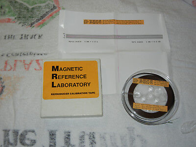 """Magnetic Reference Laboratory MRL Calibration Tape 1/4 """" IEC 15ips Reel To Reel"""