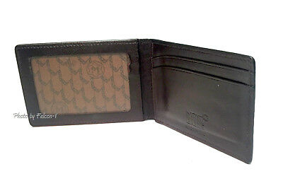 MontBlanc Croc Print Brown Leather Business Card Holder / ID Wallet ~ Germany
