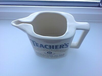 Vintage Teachers Scotch Whisky Pottery Pitcher Jug by Seton Pottery