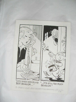Dennis the Menace Marcus Hamilton ORIGINAL comic strip art not Calvin and Hobbes