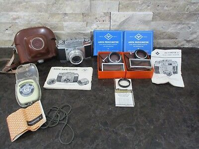 Vintage Agfa Ambi Silette 35Mm Film Camera 50Mm-2.8 Lens With Case & Extras