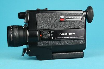 Canon 310 XL Super 8 Movie Camera with Canon Zoom Lens f/1.0 and Carrying Case