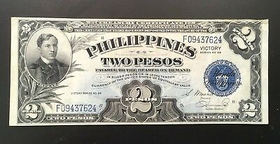 Beatiful 1944 Philippines 2 Pesos Victory In USA