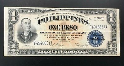 Beatiful 1944 Philippines 1 Peso Victory In USA