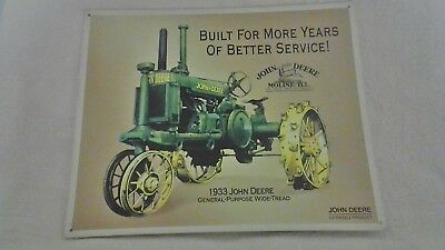 1996 John Deere Tin Sign ...1933 Tractor