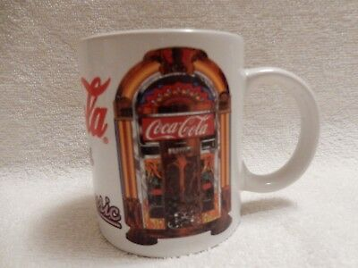 "Vintage Coca-Cola Coffee Mug Cup 1995 ""Always With Music"" Jukebox"