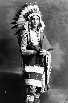 New 4x6 Native American Photo: Chief Strong Arm, North American Indian - 1909