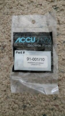 3M Accuspray 91-001/10/4 Teflon one piece needle packing. (10 )Pack