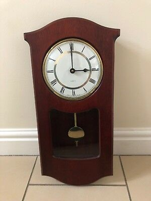 Wooden Wall Clock Quartz Fully Working